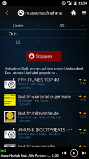 Radio Player, MP3-Rekorder + Podcasts von Audials Screenshot