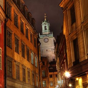 Gamla Stan, Stockholm by Awais Javed - City,  Street & Park  Street Scenes ( old, stockholm, street, old city, gamla stan, street view, city )