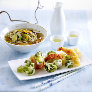 Soba Noodle Soup with Crispy Tempura.