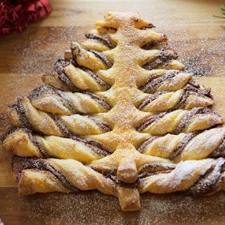 Cinnamon Chocolate Hazelnut Puff Pastry Tree Recipe