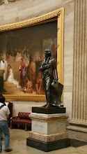 Photo: Statue of Thomas Jefferson. This was the 1st full-length portrait statue placed in the US Capitol Building. Gifted in 1834 - http://www.aoc.gov/capitol-hill/other-statues/thomas-jefferson-statue
