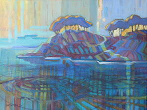 Photo: Smugglers' Cove, acrylic on canvas by Nancy Roberts, copyright 2014. Private collection.