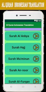 Al Quran Indonesian Translation - náhled