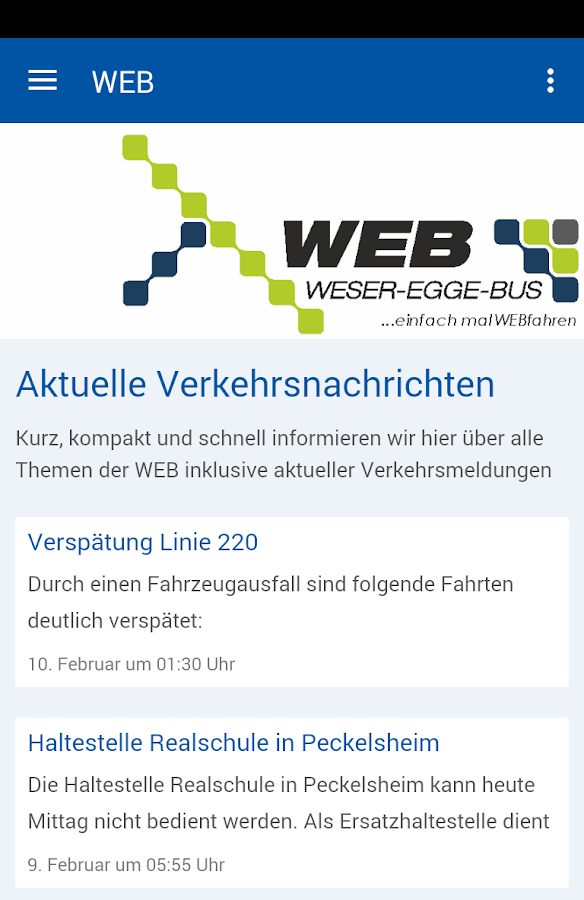 Weser-Egge-Bus – Screenshot