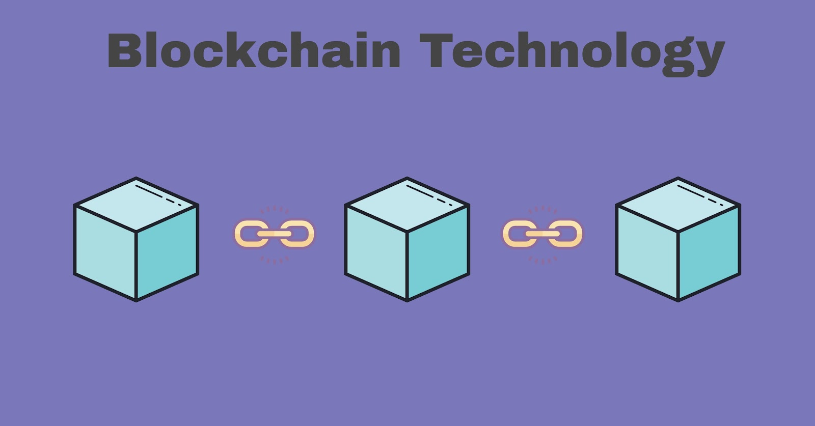 a simplified diagram of blockchain technology, representing the blocks and chains.