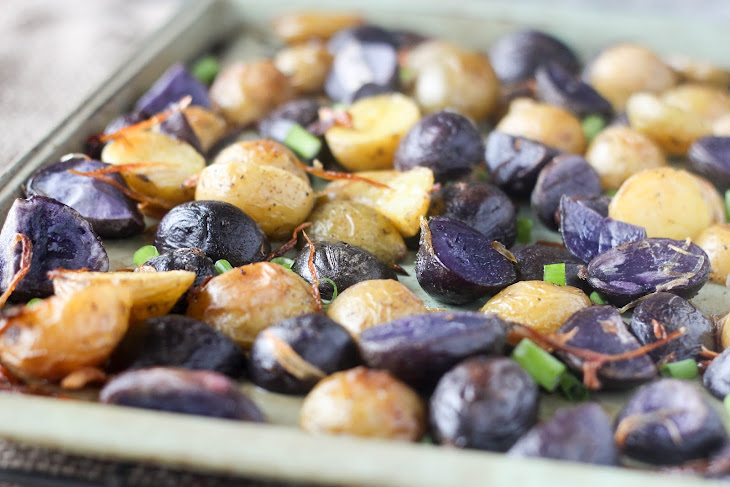 Crispy Roasted Purple Potatoes with Shallots and Chives Recipe ...