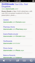 """Photo: Looking up Duane Reade store locations and the latest copy of """"Happy & Healthy"""" on my iPhoneon my wayto shop."""
