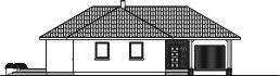 Domek Sosnowy 008 ET - Elewacja przednia