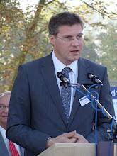 Photo: Paul Groen, van het adviesburo Groen spreekt alle aanwezigen toe