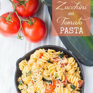 Roasted Zucchini & Tomato Pasta Recipe