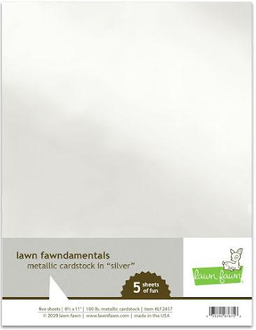 Lawn Fawn Metallic Cardstock - Silver