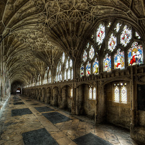 The cloister of Gloucester Cathedral by Roland Shanidze - Buildings & Architecture Places of Worship