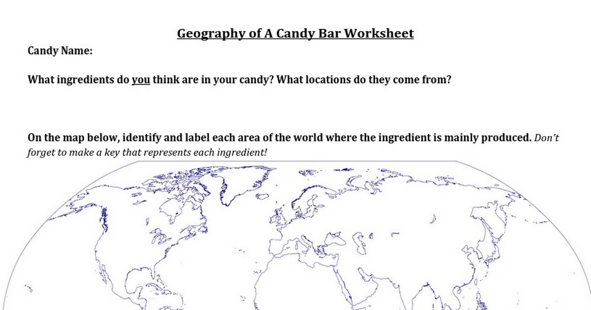 Geography Of Candy Google Docs