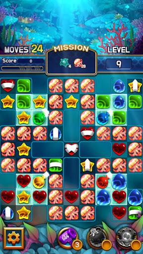 Jewel Abyss: capturas de pantalla de Match3 8