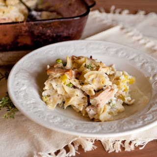 Island Trollers Tuna Noodle Casserole with Leeks and Fresh Thyme