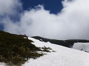 一部雪の上を歩く