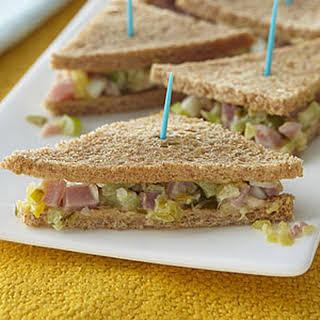 Mini Ham-Salad Sandwiches.