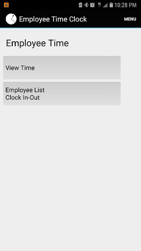 Employee Time Punch Clock screenshot for Android