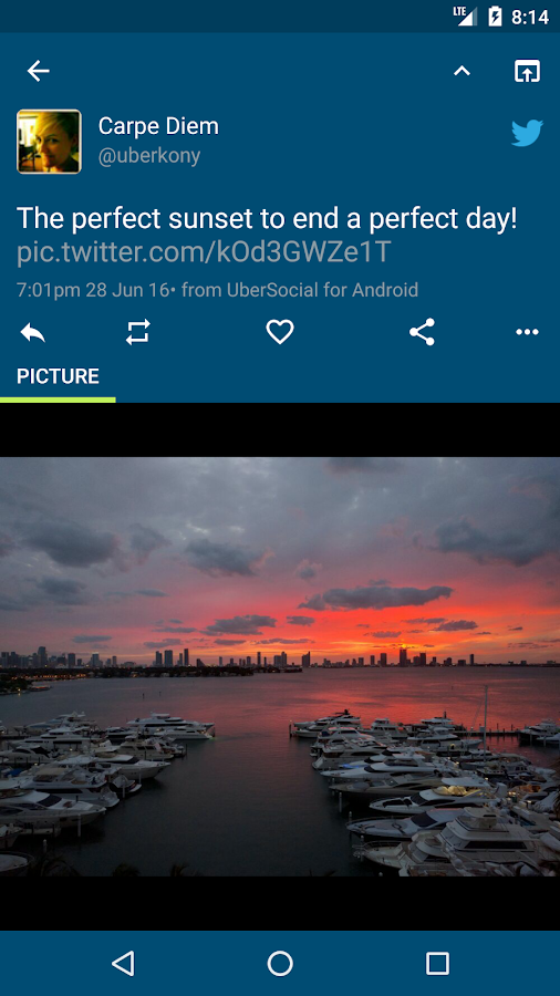 Screenshots of UberSocial for Twitter for iPhone