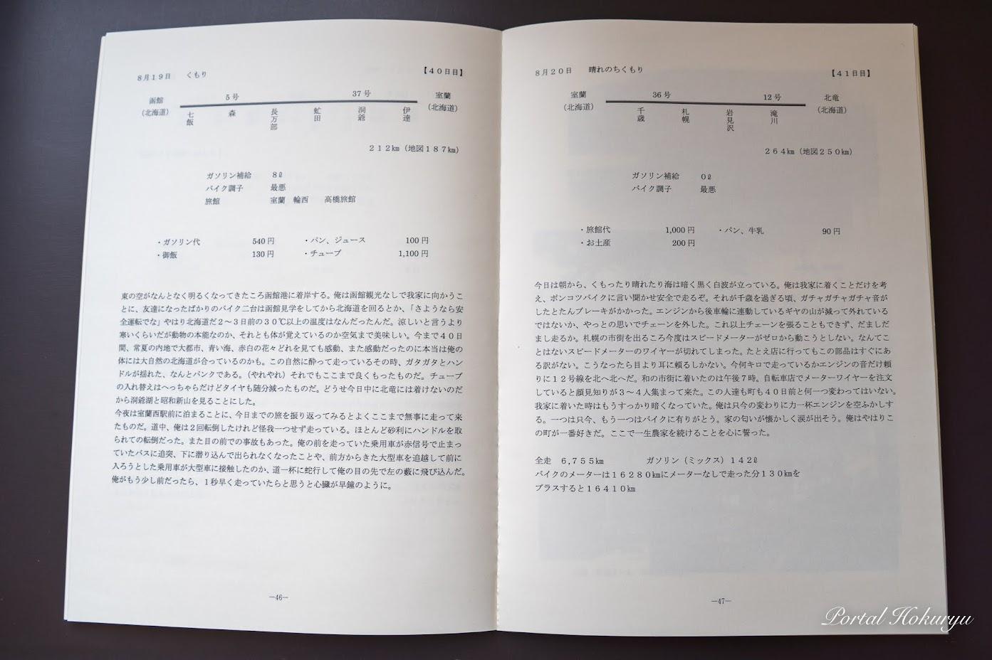 書籍『ぽんこつ単車 日本一周』41日目