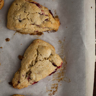 Roasted Cranberry & Vanilla Bean Einkorn Scones