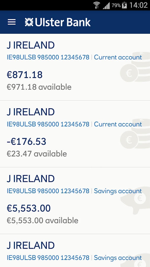 Ulster Bank ROI- screenshot