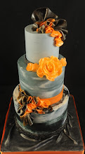 Photo: Orange Bursts by The Cake Studio (Cayman) (10/11/2012). View Cake Details Here: http://cakesdecor.com/cakes/31912