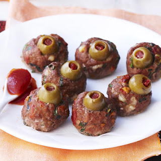 Creepy Eyeball Meatballs.