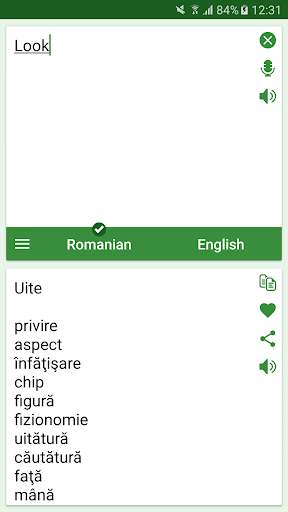 Romanian English Translator Appar för Android screenshot