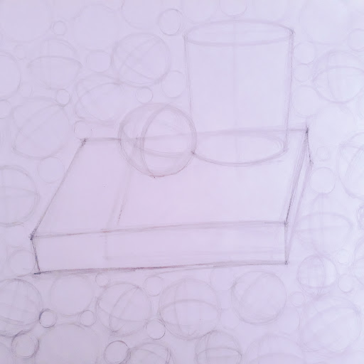 Picture of cylinders, spheres and boxes