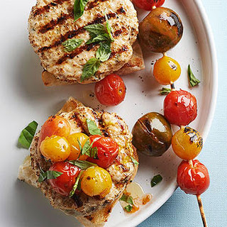 Grilled Cherry Tomato Turkey Burgers