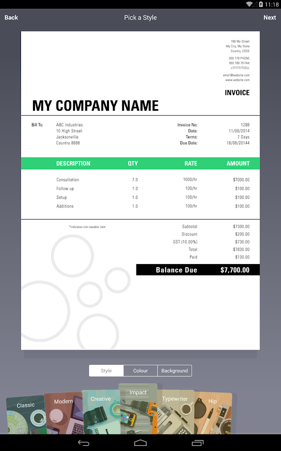 Invoice & Estimate Invoice2go- screenshot