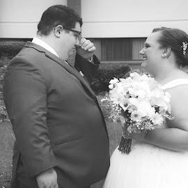 by Michelle J. Varela - Wedding Bride & Groom
