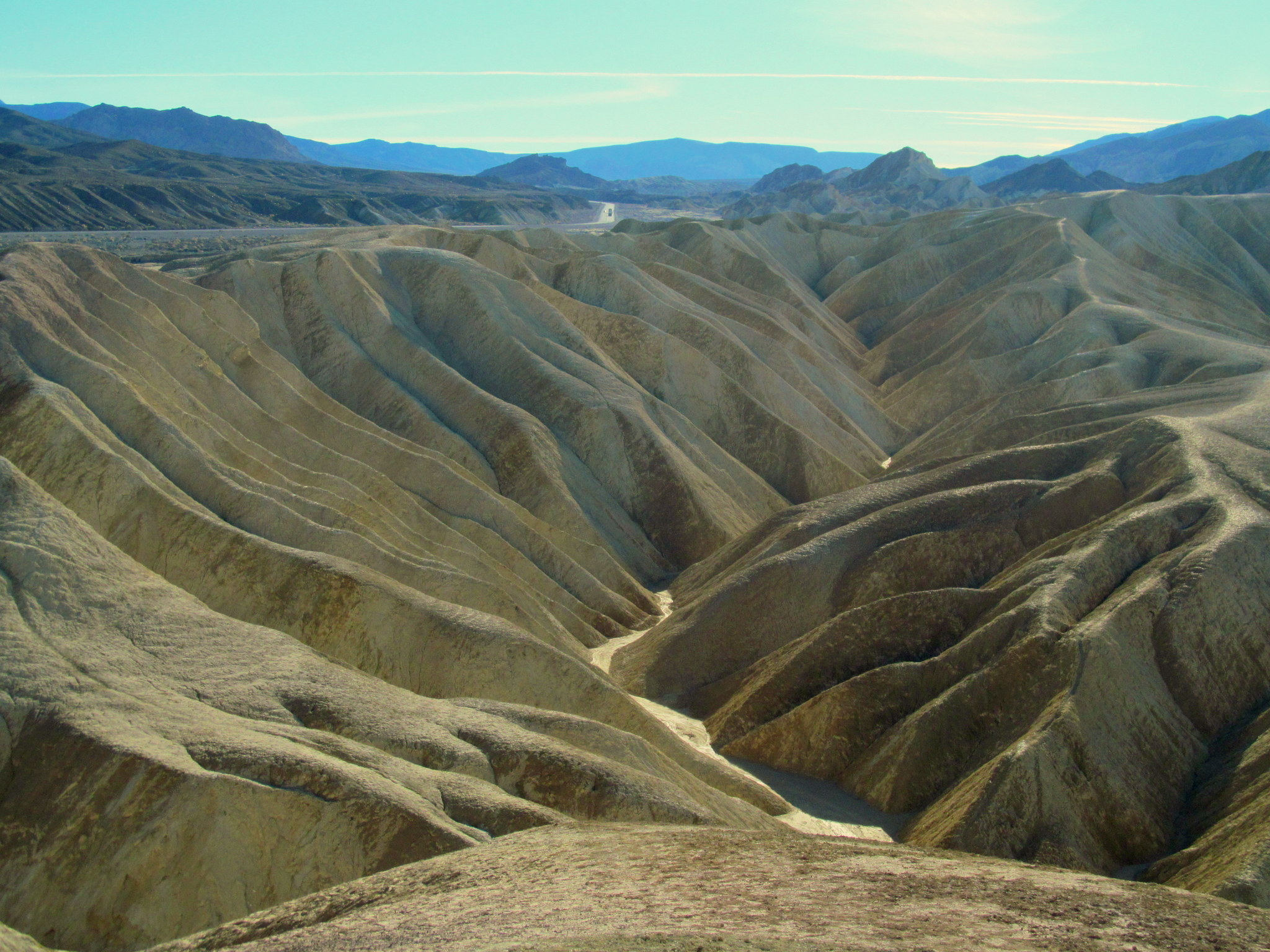 Photo: Badlands at Zabriskie Point