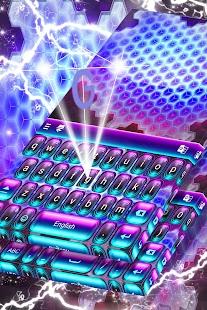 Neon 3D klávesnice téma zdarma - náhled