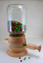 "Photo: Bob Grudberg 6""x 16"" M&M dispenser [oak]"