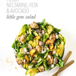 Herby Nectarine, Avocado & Feta Little Gem Salad.