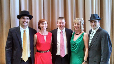 Photo: Posing during the VIP Reception are (L to R): Brian Allerding, Abbey Allerding, Chris Moore, Erin Shea and Tim Shea.
