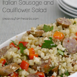 Low Carb Italian Sausage and Cauliflower Salad.