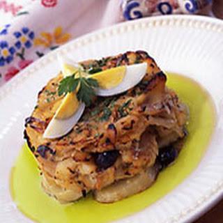 Portuguese Salt Cod and Potato Casserole.