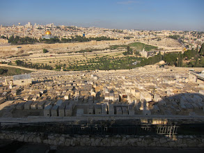 Photo: Old city of Jerusalem from the Mount of Olives
