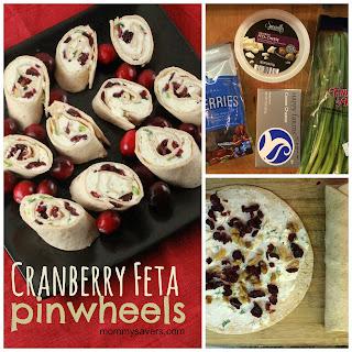 Cranberry Feta Pinwheels
