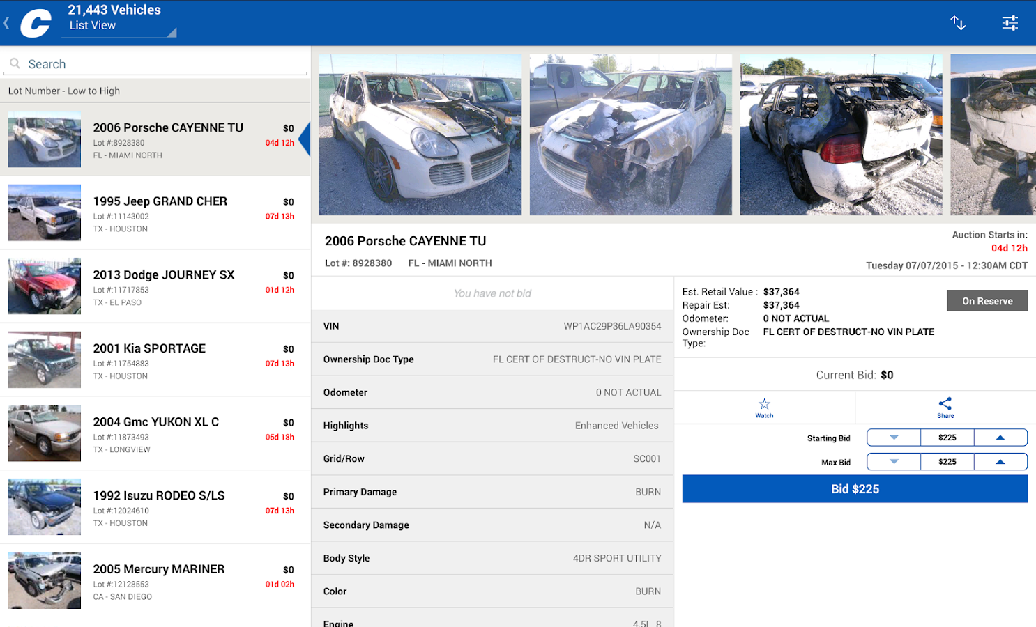 Car Auction Apps >> Copart – Salvage Car Auctions - Android Apps on Google Play