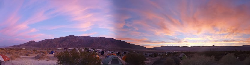 Photo: Sunset. Stovepipe Wells camp.