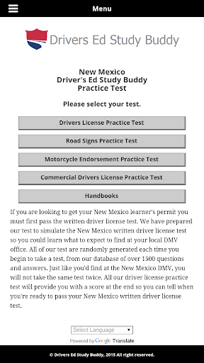 New Mexico Driver License Test