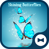 Fantasy Wallpaper Shining ButterfliesTheme