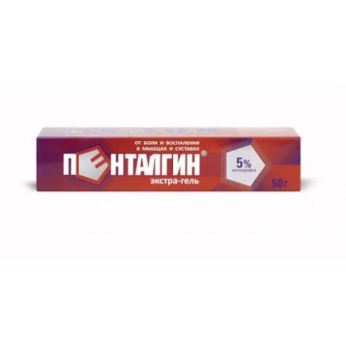 Пенталгин Экстра Гель 5% 50г