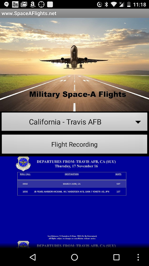 Military Space-A Flights- screenshot