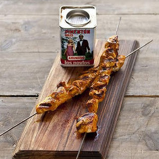 Chicken Skewers Marinated With Paprika And Oregano