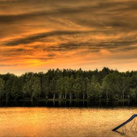 sunset by Petr Germanič - Uncategorized All Uncategorized ( water, sky, sunset, lake )